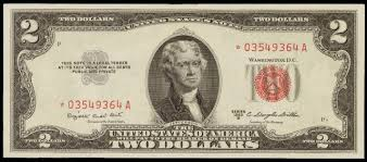 Antique Money Prices For Two Dollar 1953 Legal Tenders