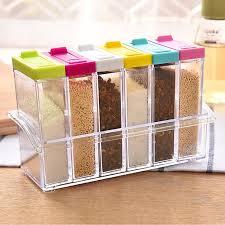 1pcs Spice Jar Seasoning Box 6pcs Set Kitchen Spice Storage Bottle