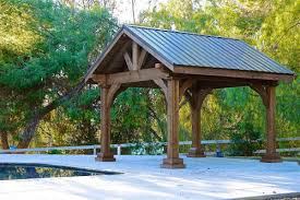 cedar pavilion kits. Brilliant Pavilion 14x14 Grand Cedar Pavilion Rough Sawn Western Red Cedar Walnut Stain  Thousand Oaks  For Pavilion Kits Pergola USAcom