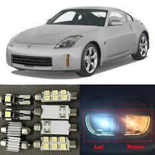 7pcs White Canbus Led Light Bulbs Interior Package Kit For 2003 2009 Nissan 350z 12v Interior Map Trunk License Plate Lamp