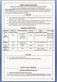 Mba Hr Fresher Resume Format Doc Sample Resume For Hr Fresher Careerride  Resume For Lecturer Job