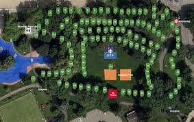 the city of kamloops has created an interactive map of riverside park attractions on canada day including these 117 displays as part of art in the park