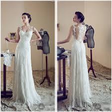 Designer Sheath Wedding Dresses Us 139 0 New Designer Couture Sheer Cap Sleeve Lace Wedding Dress 2017 Sheath Wedding Gowns Sweep Train Wedding In Wedding Dresses From Weddings