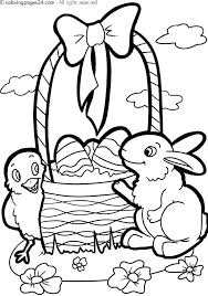 Easter Basket Coloring Pages Basket Coloring Page Free Printable