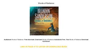 words free download download words of radiance audiobook free