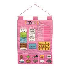 Almas Designs Today Is Childrens Calendar Wall Chart Pink