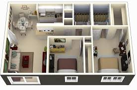 one bedroom apartment designs example fascinating 50 3d floor plans lay out designs for 2 bedroom