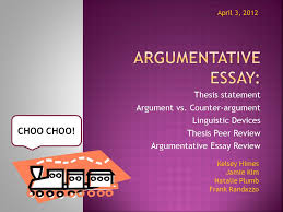 Thesis Argumentative Essay Argumentative Essay Choo Choo Thesis Statement Ppt Download