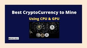 Cpu mining is a process of adding transaction records to the public ledger of cryptocurrency by performing necessary calculations with a central processing unit (cpu). Best Cryptocurrency To Mine Easy And Cheap Using Cpu And Gpu