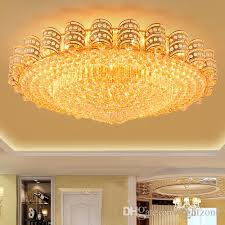 factory direct modern crystal chandeliers lightings gold round crystal lamp living room bedroom led ceiling lamps luxury crystal lights chandelier light