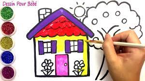Dạy bé tập vẽ ngôi nhà của bé và gia đình nào ...