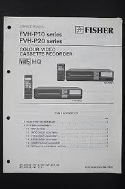 fisher fvh p10 p20 series original vcr service manual wiring diagram fisher fvh p10 p20 series original vcr service manual wiring diagram diagram