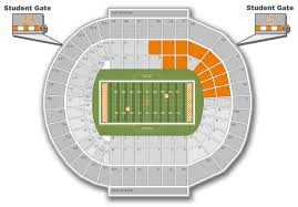 University Of Tennessee Seating Chart Neyland Stadium Big Orange Tix