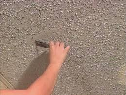 how to repair a textured ceiling how