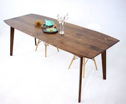 custom made santa barbara mid century modern dining table