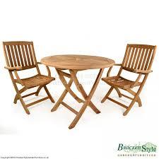 york 2 seater folding teak garden table set