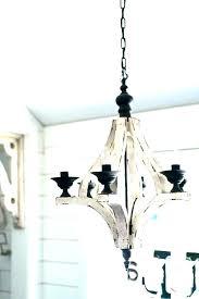 distressed white wood chandelier elegant french60