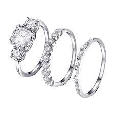 Amazon Com Letdown_rings Women Bohemian Silver Wedding
