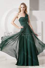 ball gown for plus size hunter green one shoulder plus size evening gown 1st dress com