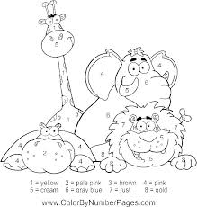 Wild Animals Coloring Pages Printable H9966 Wild Animals Coloring