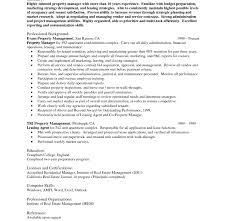 Resume For Property Management Job Property Manager Resume Job Description Template Regional Skills 50
