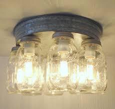 rustic mason jar ceiling light fixture flush mount kitchen lighting 270