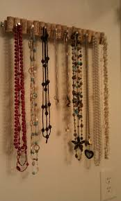 Jewelry Holder Wall Diy Jewelry Holder The Wannabe Hippie Diy Necklace Holder