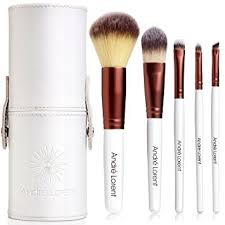 1 pro makeup brush set with gorgeous designer case includes 5 professional makeup brushes