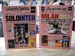 """Uživatel Gazzetta Passion na Twitteru: """"Cartellette #Gazzetta SOLO #INTER -  Champions 2010 #MILAN SIAMO LA COPPA + BELLA DEL MONDO - Mondiale per club  2007… """""""