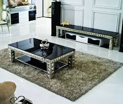 Dare To Be A Dramatic With Glass Living Room Furniture Living