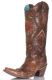 corral womens southwest tall top cowboy boots cognac 114825 jpg
