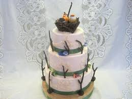 3 Tier Chocolate And White Wedding Cake With Buttercream Icing Twigs