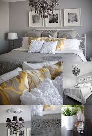 Gray And Yellow Bedroom. Love It. I Would Do Plum Instead Of Yellow