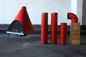 en fuego midcentury modern majestic regency free standing wood gas mandarin red cone fireplace