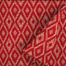garden treasures red diamond ruby 54 in w geometric outdoor fabric by the