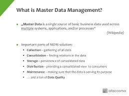 job description data manager using hadoop as a platform for master data management