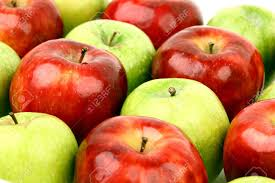 green and red apples. red and green apples macro close up stock photo - 5020279 u