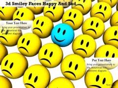 stock_photo_blue_happy_smiley_with_yellow_sad_face_powerpoint_slide_1 240x180 sad face powerpoint templates, slides and graphics on marketing template powerpoint