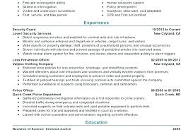 Sample Law Enforcement Resumes Law Enforcement Resume Cover Letter