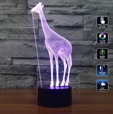 Gratis Verzending 3d Decor Dier Giraffe Vorm Kinderen Night Lamp
