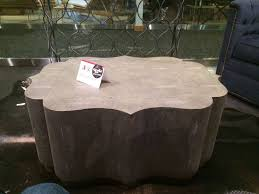 transitional faux reen coffee table