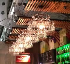diy wine glass chandelier kit designs