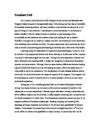 cas ib report international baccalaureate misc marked by page 1 zoom in