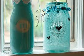 Ways To Decorate Glass Jars Spray Painted Glass Jars And Bottles Pretty Handy Girl 33