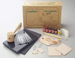 craft sha leathercraft leather stamping set stamps tools dyes lacquer kit