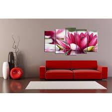 Tableau Déco Fleur (Pentaptyque) - Lotus d'Orient - Home-Photo-Deco.com