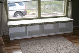 Window Seat Furniture Charming Window Seat Design With Grey Fur Rug On