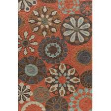 orange area rug. Ophelia Hand-Hooked Terracotta Area Rug Orange Q
