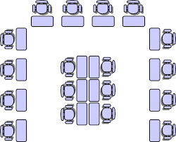 The New Group Seating Chart Horseshoe With Group Area In The Middle Seating Chart