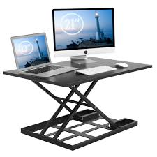 standing desk converter inch extra large height adjule sit stand up desk converter instantly convert any desk into standing up workstation